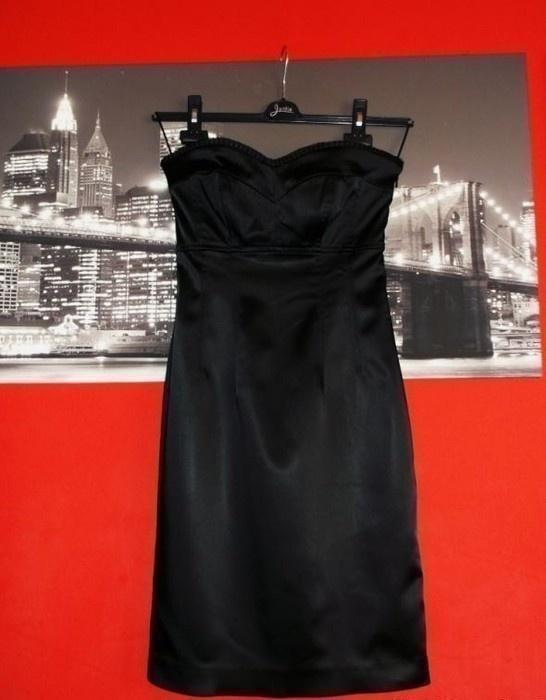 Czarna Sukienka z Satyny OASIS...