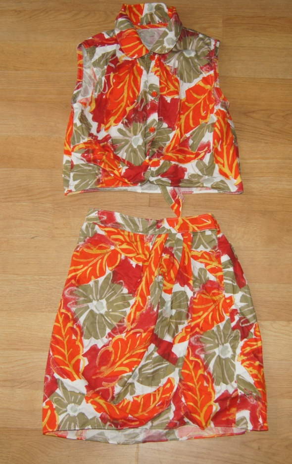 Zestaw dziewczynka spódniczka bluzka komplet 134