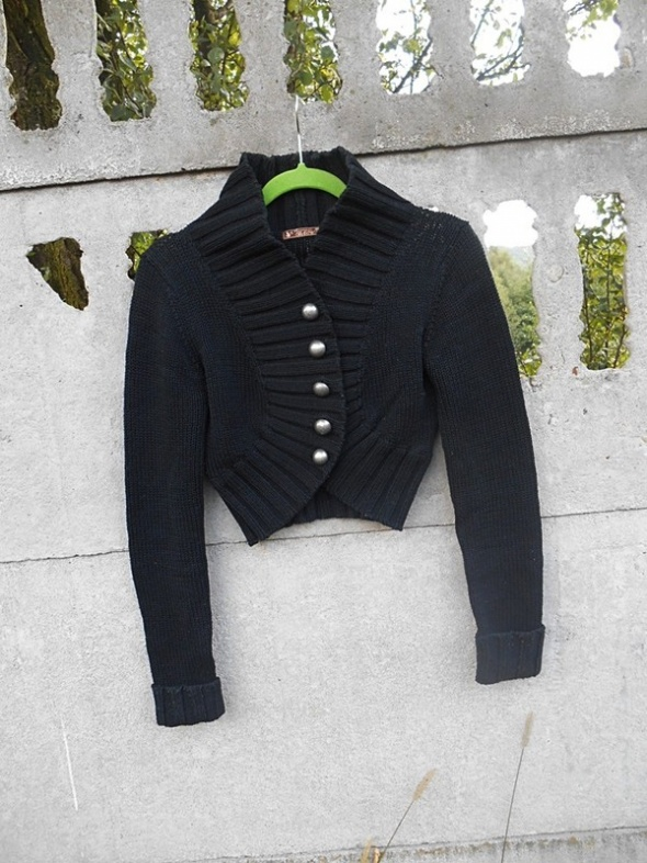 Swetry Czarne Bolerko 38 M sweter Kardigan