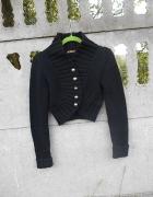 Czarne Bolerko 38 M sweter Kardigan...
