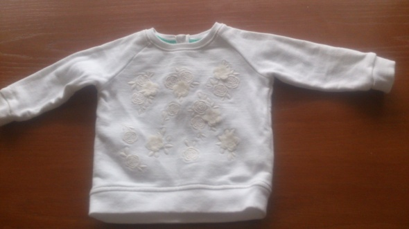 bluza biała z kwiatkami F&F