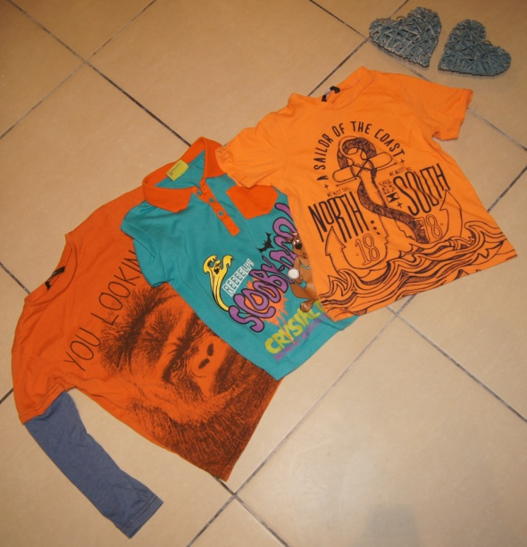 Zestaw chłopiec koszulki bluzka Scooby Doo rozm 110 116