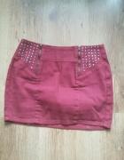 czerwona spódniczka mini...