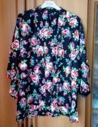 Wyprzedaż narzutka floral kimono xs s