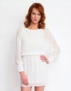 Sukienka mgiełka ecrue długi rękawy 42 XL...