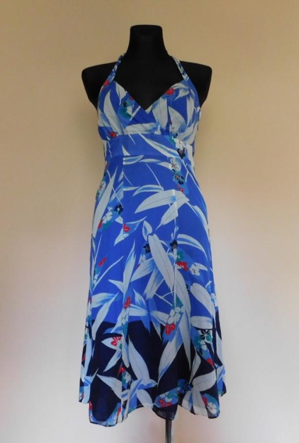 Monsoon sukienka niebieska midi 38...