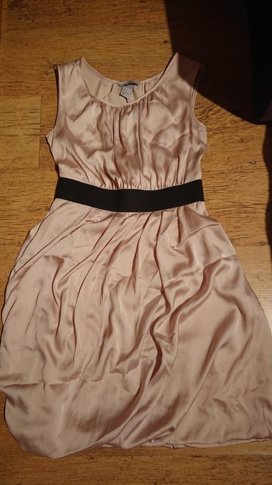 Sukienka wesele elegancka pudrowa S 36 H&M