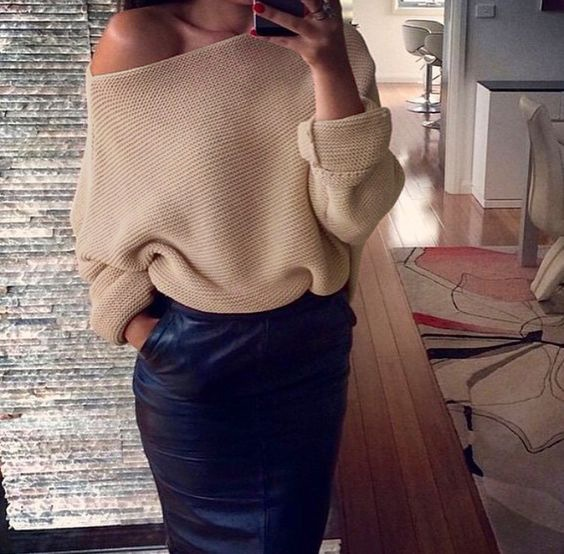nowy brązowy sweter...