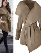 płaszcz brązowy na wiosnę