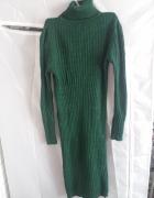 Sukienka ciemnozielona golf Renee...