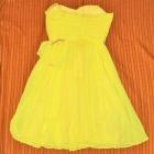 Żółta sukienka studniówka S 36 Mango tjulowa