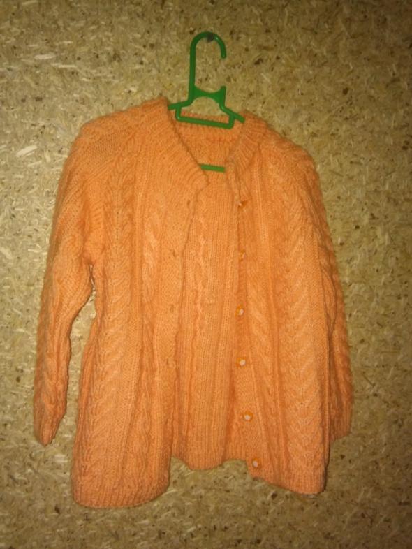 Pomarańczowy rozpinany sweterek 110 116 cm 4 5 lat