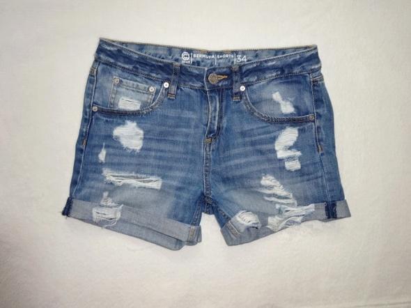 Spodenki Cubus krótkie jeans spodenki z dziurami jeansowe dziury 36 S