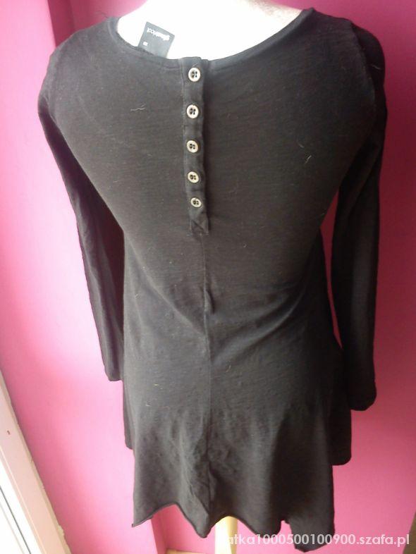 gina tricot Asymetryczna tunika sukienka z guzikam...
