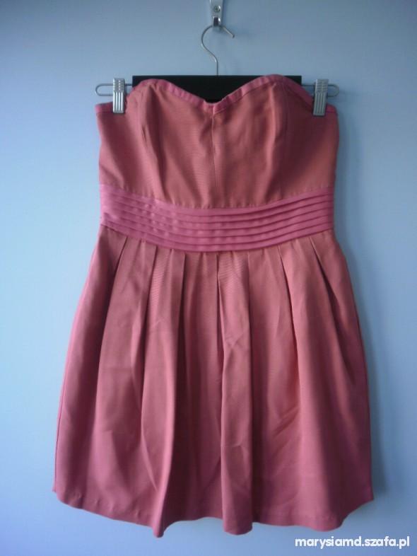 Suknie i sukienki Bik bok gorsetowa koralowa sukienka S M
