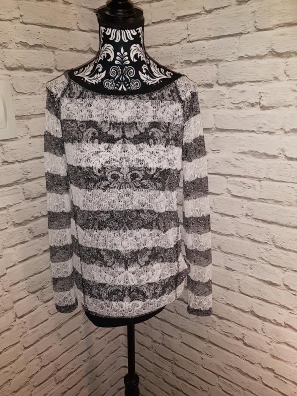 Idealny biało czarno sweterek XS...