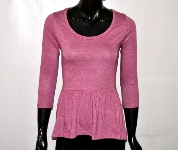 Bluzki różowa baskinka dorothy perkins