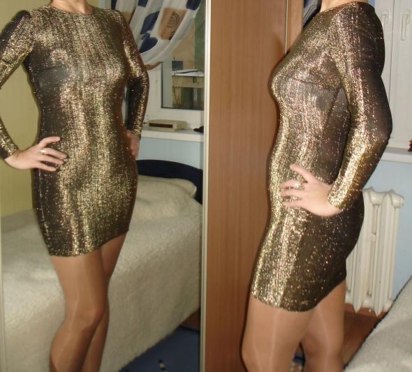 Złota mini sukienka...