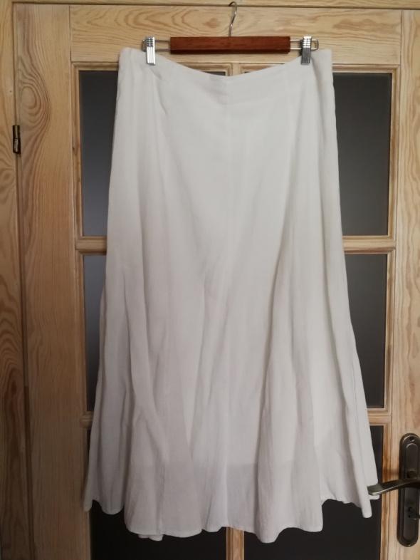 33485939f8 Piękna biala spódnica lniana elegancka Polecam w Spódnice - Szafa.pl