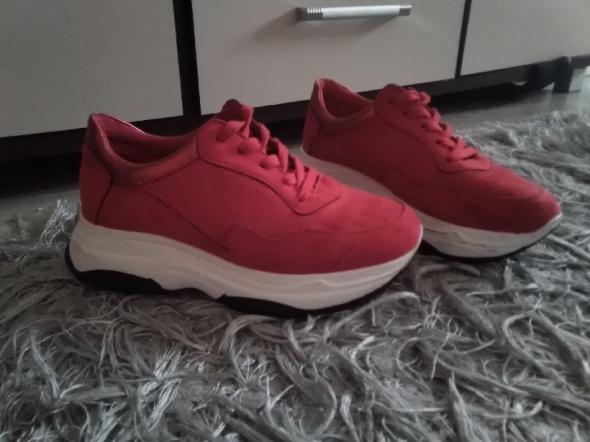 Wyprzedaż szafy czerwone adidasy sneakersy 39