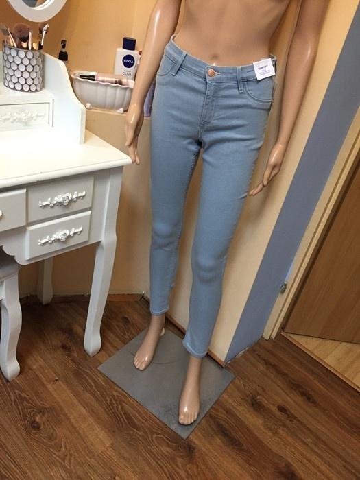 Spodnie jegginsy XS nowe z metką