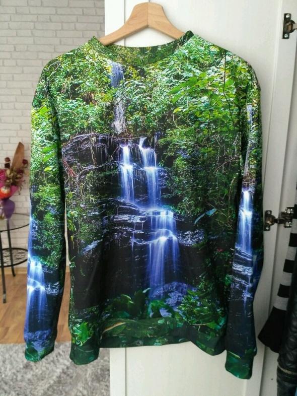Bluza z nadrukiem wodospad