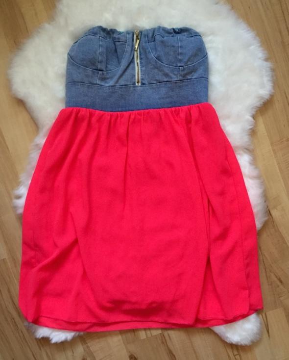 Suknie i sukienki Neonowa sukienka jeans