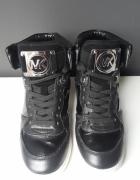 Michael Kors skórzane sneakersy na koturnie Nikko...