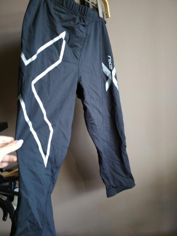 Sportowe legginsy M do łydki czarne
