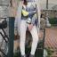 Nowy popielaty sweter z modnym neonowym wzorem Stradivarius M L