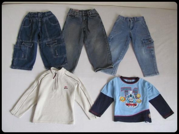 Mały zestaw ubrań dla chłopca na 104 110...