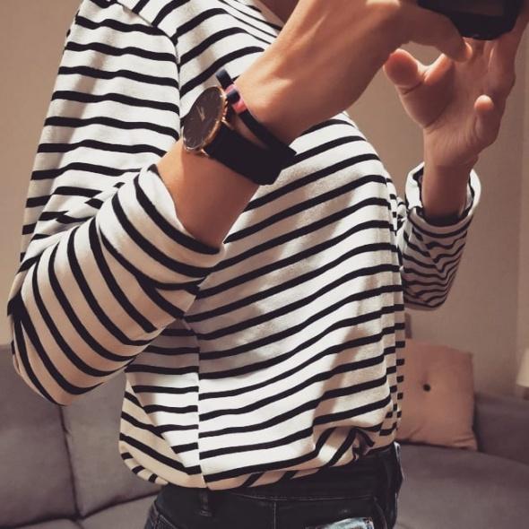Bluzka Basic black white
