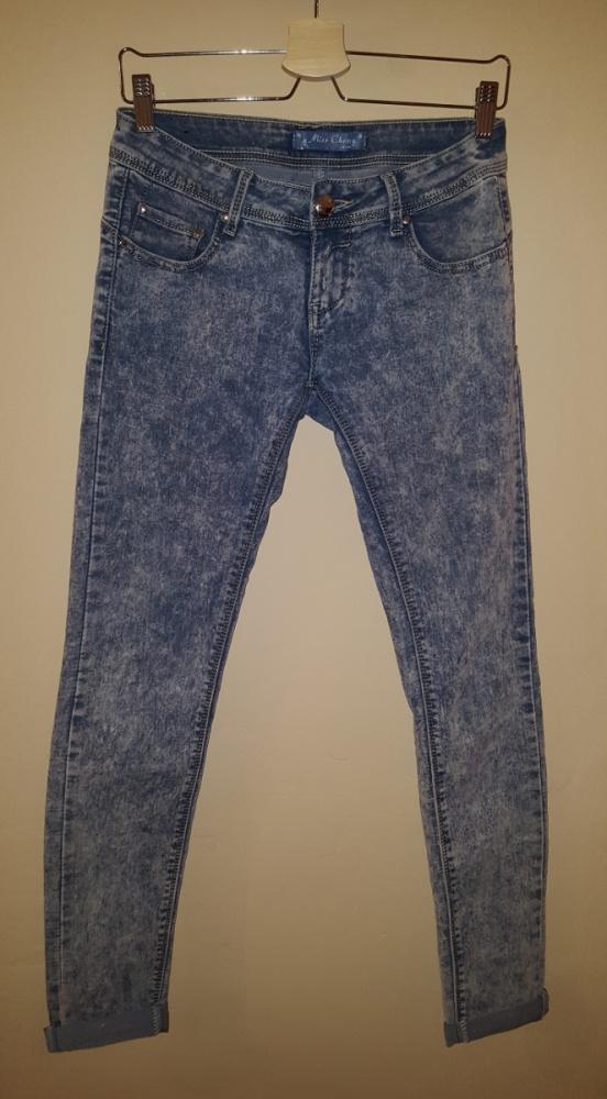 Spodnie rurki marmurki biodrówki M...