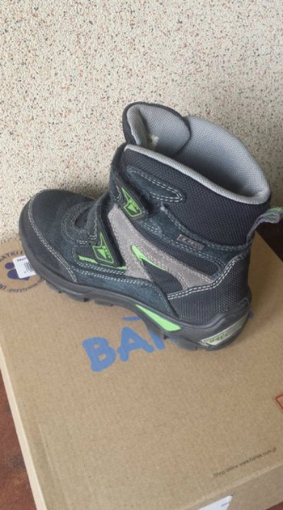 Obuwie Czarne zamszowe buty trzewiki dla chłopca