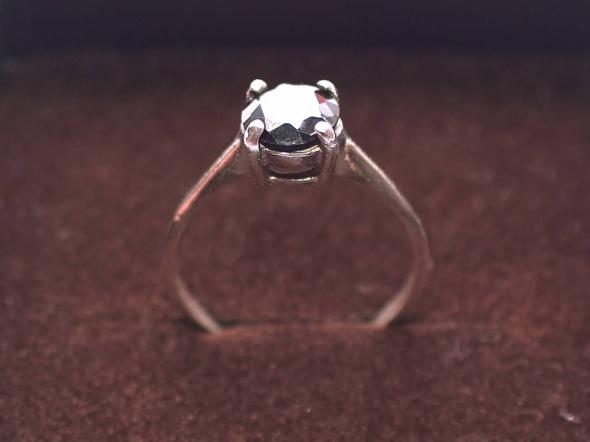 Pierścionek srebrny z onyksem Próba 925