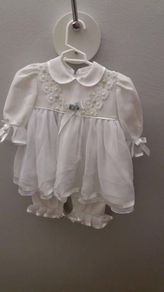 Sukieneczka biała do chrztu dla dziewczynki 68