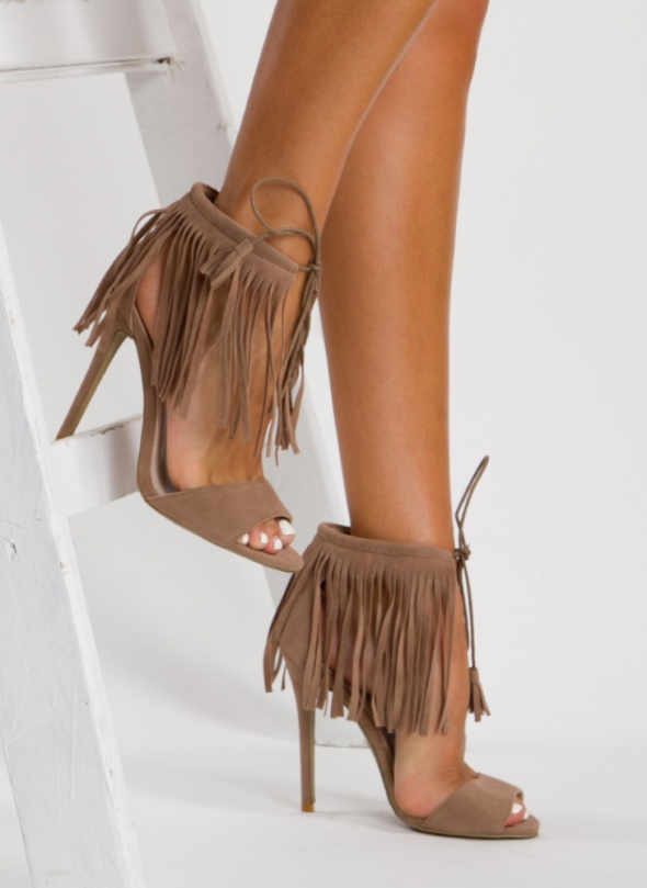 Sandałki z frędzlami nude 40 nowe...