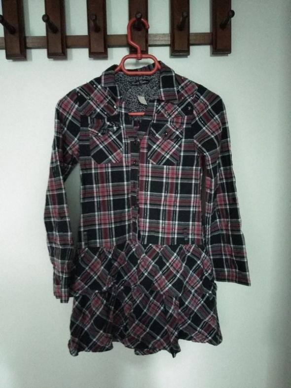 Sukienki i spódniczki Koszulowa tunika w kratkę