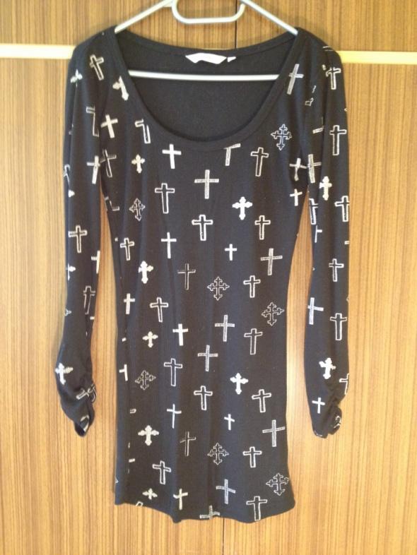 Sukienka New Look krzyże czarna białe XS S M 34 36...