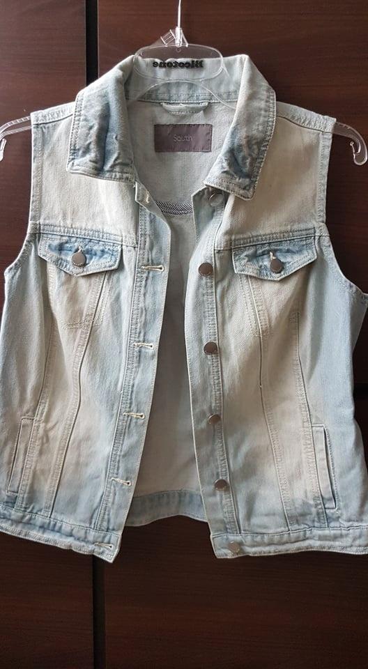 piekna jeansowa katana kamizelka