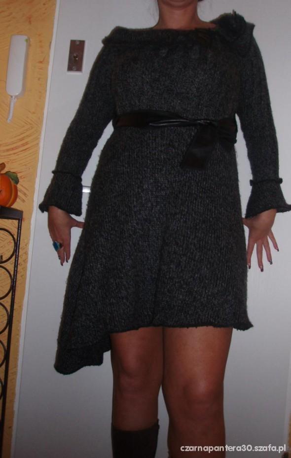 Szary melanż cud sukienka