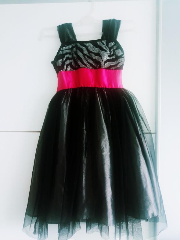 Sukienka wizytowa dla dziecka dziewczynka 7 lat rozłożysta księżniczka