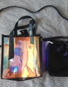 Cholograficzna torebka nowa listonoszka kuferek...