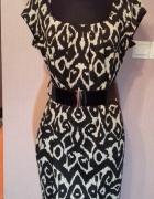 Dzianinowa sukienka tunika szaro czarna r M L XL...