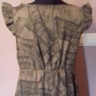 Brązowa krótka sukienka tunika bez rękawów M