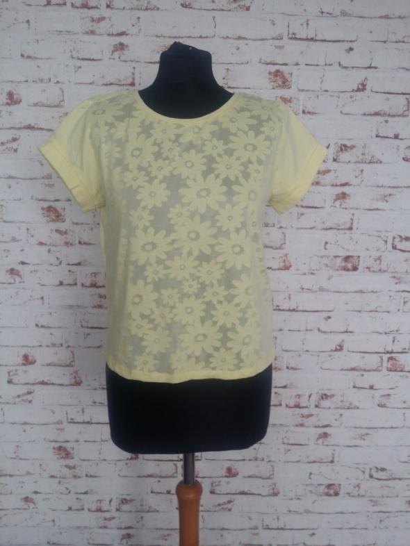 Żółta bluzka T shirt rozm 42 XL...