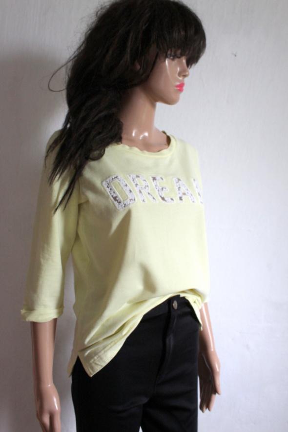 Jasnożółta bluzka bluza r S