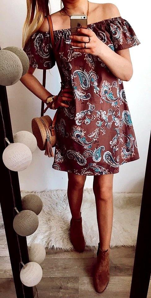 Sukienka Damska w ornamenty M