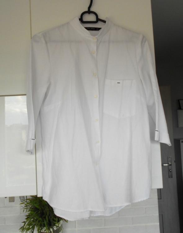 Zara klasyczna biała koszula minimalizm