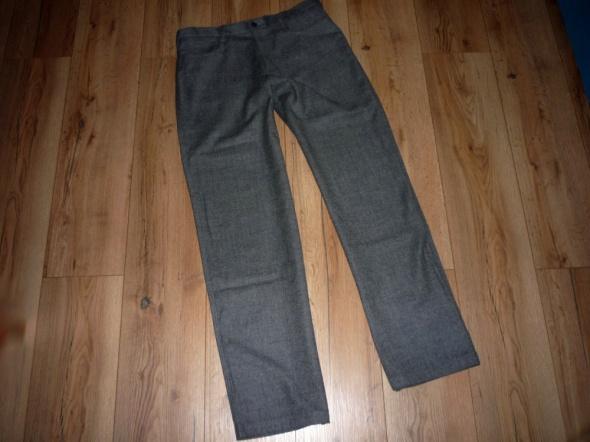 rozm 42 XL ZARA spodnie szary melanż
